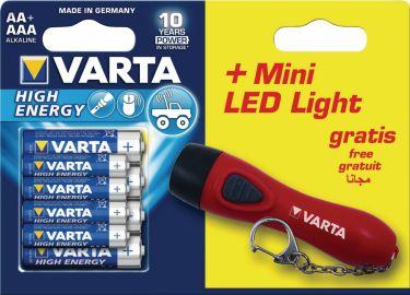 Varta Alkaline Battery AA High Energy 8-Promotional Blister, 92400121812