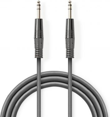 Nedis Balanced Audio Cable | 6.35 mm Male - 6.35 mm Male | 5.0 m | Grey, COTH23020GY50