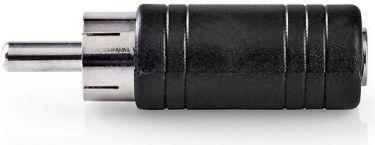 Nedis Mono Audio Adapter | RCA Male - 3.5 mm Female | 10 pieces | Black, CAGP24960BK