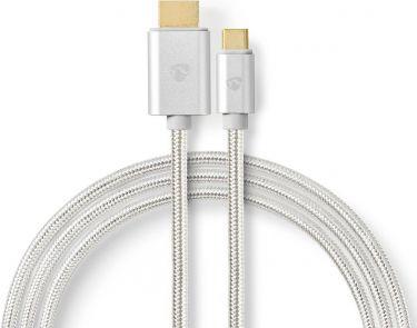 Nedis USB-C™-kabel   USB-C-hanstik - HDMI™-hanstik   2,0 m   Aluminium, CCTB64655AL20