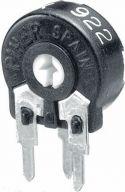 "Trimmepotmetre, <span class=""c9"">PIHER -</span> Lodret trimmepotmeter 100 kOhm, lille 10mm, skruetrækker"