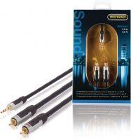 Profigold Stereo Audio Kabel 3.5 mm Han - 2x RCA Han 2.00 m Antracit, PROA3402