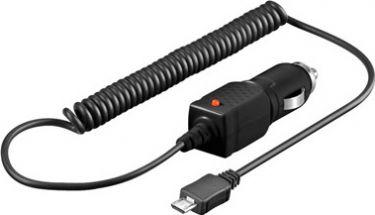 """<span class=""""c9"""">GOOBAY -</span> 12/24V biladapter Cigar til 5V / 1A micro USB (spiral)"""