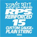 Ernie Ball EB-1035, Single .015 RPS Reinforced Plain Steel string f