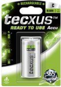 "Genopladelige Almindelig NiMH (AAA-AA-C-D), <span class=""c10"">Tecxus -</span> Tecxus NiMH C/HR14 batteri 4500mAh, ReadyToUse (1 stk.)"