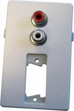 VGA vægdåse m. 2 x Phono 1.5 modul, Hvid (FUGA tilpasset)