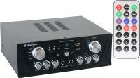 Stereo Hi-Fi Forstærker med FM Radio / Karaoke / USB / SD / MP3, Sort
