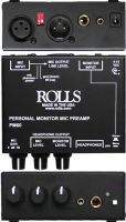 Rolls PM60, Personal Monitor Mic Preamp with phantom power