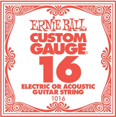 Ernie Ball EB-1016, Single .016 Plain Steel string for Eletric or A