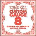 Ernie Ball EB-1008, Single .008 Plain Steel string for Eletric or A