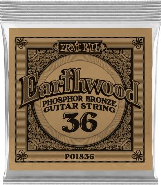 Ernie Ball EB-1836, Single .036 Wound Earthwood Phosphor Bronze str