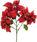 Kunstige Blomster, Europalms Poinsettia bush, red, 60cm