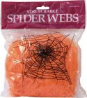 Halloween, Halloween Edderkoppespind, Orange 100g UV aktivt