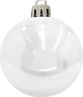 Europalms Deco Ball 7cm, white 6x