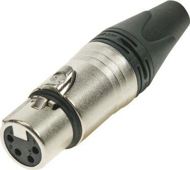 """<span class=""""c9"""">NEUTRIK -</span> Neutrik XLR 4-pol hun kabelstik, Sølvbelagt nikkel"""