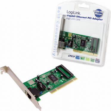 "<span class=""c9"">LogiLink -</span> PCI kort 1 x Gigabit Ethernet (10/100/1000Mbps)"