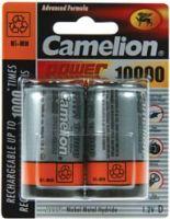 "<span class=""c10"">Camelion -</span> Camelion NiMH opladelig D batt. 1,2V 10.000mAh (2 stk.)"
