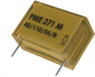 """<span class=""""c9"""">Kemet -</span> X2 støjkondensator 100nF (0,1uF) 275VAC (20mm)"""