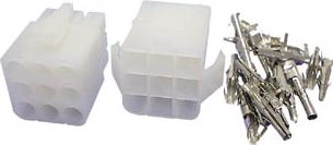 Ledning-til-ledning stiksæt 3x3 pol (6,2mm benafstand)