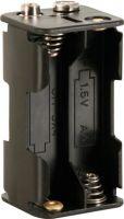 Batterier og tilbehør, Batteriholder til 4 x AA bat. (m. knapterminaler)