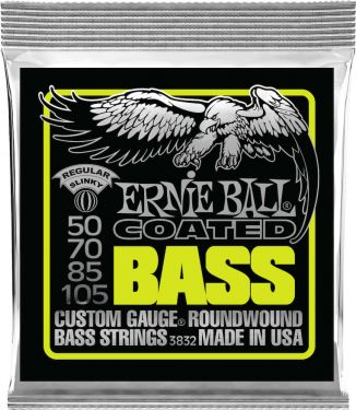 Ernie Ball EB-3832, Coated Regular Slinky Bass 50-105