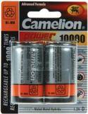 "Genopladelige Almindelig NiMH (AAA-AA-C-D), <span class=""c10"">Camelion -</span> Camelion NiMH opladelig D batt. 1,2V 10.000mAh (2 stk.)"