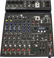 Peavey PV-10 BT Mixer, 10-channel compact mixer with USB and Blueto