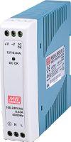 "<span class=""c9"">MeanWell -</span> DIN-skinne strømforsyning 12VDC / 10W (0,84A)"