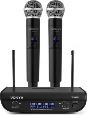WM82 Digital UHF 2-Channel Wireless Microphone Set with 2 Handhelds
