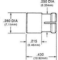 CIF280 grøn fatn. f. 5mm LED