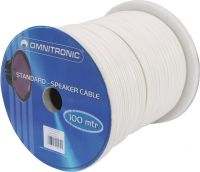 Omnitronic Speaker cable 2x1.5 100m wh