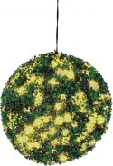 Europalms Boxwood ball with yellow LEDs, artificial, 40cm