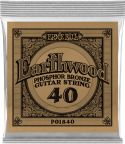 Musikinstrumenter, Ernie Ball EB-1840, Single .040 Wound Earthwood Phosphor Bronze str