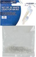 """Diodesortiment, <span class=""""c90"""">Velleman -</span> 3mm LEDs til MK193 Hvid (30 stk.)"""