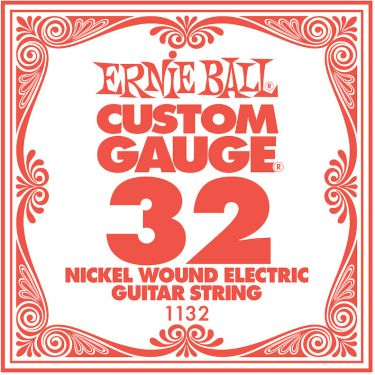 Ernie Ball EB-1132, Single .032 Nickel Wound string for Eletric gui