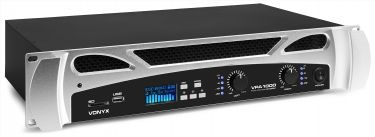 VPA1000 PA Amplifier 2x 500W Media Player with BT