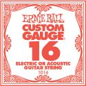 Musikinstrumenter, Ernie Ball EB-1016, Single .016 Plain Steel string for Eletric or A