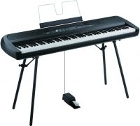 Korg SP280BK Black Digital Piano, Beautiful piano sound, with a sty