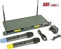 "<span class=""c90"">HQ Power -</span> PLL trådløs 8-kan. UHF mikrofonsystem 19"", 2 håndmik."