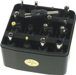 DC stiksortiment 16 aftagelige stik til universaladaptere