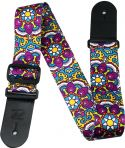 "Musikinstrumenter, Profile TSF08 Poly Strap Modern Paisley, 2"" Terylene sublimation pr"