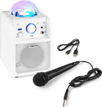 SBS50W BT Karaoke Speaker LED Ball White