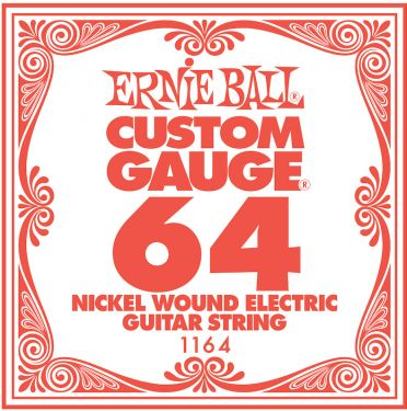 Ernie Ball EB-1164, Single .064 Nickel Wound string for Eletric gui