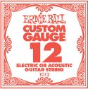 Musikinstrumenter, Ernie Ball EB-1012, Single .012 Plain Steel string for Eletric or A