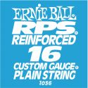 Musikinstrumenter, Ernie Ball EB-1036, Single .016 RPS Reinforced Plain Steel string f