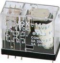 Desk Clocks, Vertikalt relæ 24VDC / 8A, 1 x omskifter (SPDT)