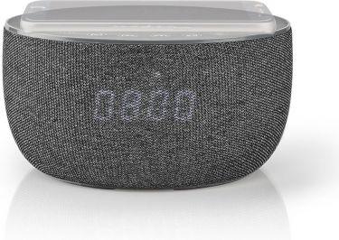 "<span class=""c10"">Nedis -</span> Bluetooth-højttaler m. ur og trådløs oplader 30W, Grå"