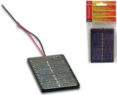 Indstøbt solcelle (2V/200mA)