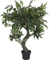 Europalms Ficus Forest Tree, artificial plant, green, 80cm