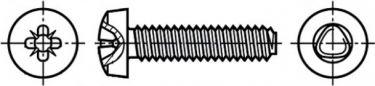 """<span class=""""c9"""">Bossard -</span> Krydskærv maskinskrue, panhoved M3 x 10mm, PZ1 (50 stk.)"""